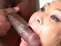 Asian Mya Minx fucks with black dick