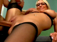 Teacher in stockings hardcore sex