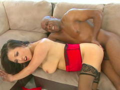 Spicy Asian love to fuck with big black dong