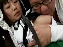 Cute Asian is sucking a nice cock