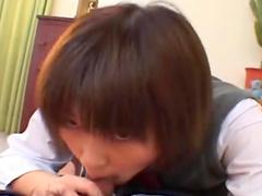 Shinobu Kasagi masturbates her lovely Asian pussy