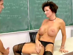 Teacher Deauxma sex in stockings