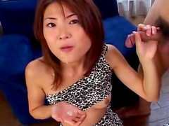 Asian chick is washing her hairy pussy