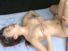Sweet Asian swallows tasty sperm