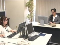 Business woman from Japan is fingering