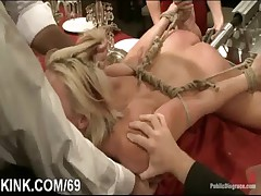 Interracial bondage sex