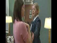 Sexy Office MILFS Get Turned On