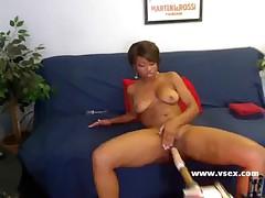 Ebony live webcam fucking machine