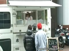 Watching naughty public japanese upskirt
