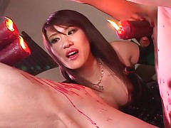 Natsuki extreme whipping Femdom