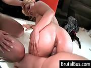 Two sluts fuck a dude in bus
