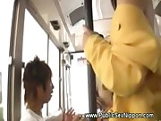 Asian pussy play on bus