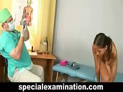 Nude vaginal examination