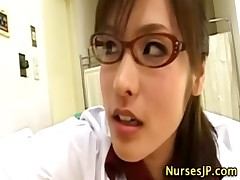 Japanese asian nurse rimjob and cumshot