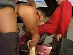 sexy blonde anal and dp