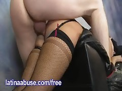 Thick Latina Gets Nasty With 2 Hung Guys