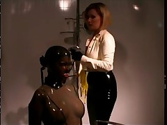 Sexy Slave getting humiliated in Bondage BDSM-STORES.com