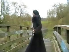 Goth Flashing Pissing