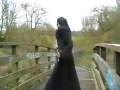 Goth Flashing Pissing