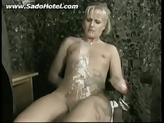 Bdsm girl getting punished with candlewax