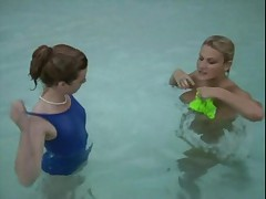 Joy Karin's fuck in the pool &amp- lesbian