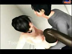 3D Elevator Sex Hot Hentai