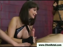 Bdsm sluts tickle and tease cock