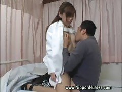 Asian nurse rimjob and oral
