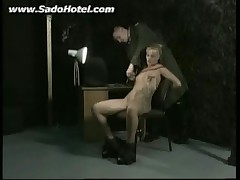 Bdsm clip with blonde tattooed girl