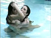 Nikki Fritz &amp- Lorissa McComas - Swimming Pool Photoshoot 2004