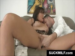 Mommy sucking a fat penis
