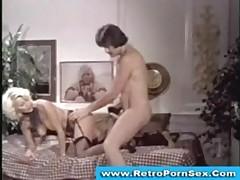 Seka fucked and facialized in 1970s retro porn scene