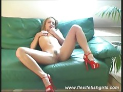 Flexi fetish girl fingering