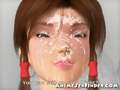 3D Teen Gets a Huge Facial!