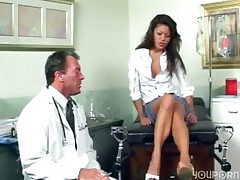 pornovato.com - Horny Asian babe goes to the doctor for sex