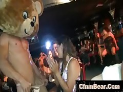 CFNM babes suck stripper dick at CFNM Party