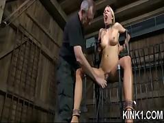 Bondage Babe Shows Fear