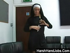 Biblical ball bashing from an angry nun