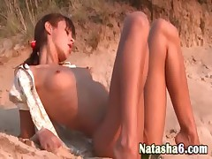 natasha jerkingoff off on the beach