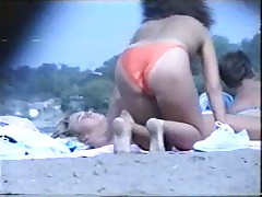 Voyeur on the beach