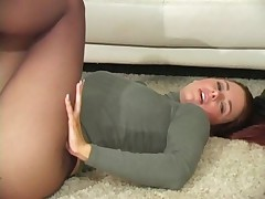 Victoria Red Teases in Black Pantyhose - Part 2