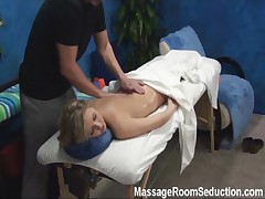Sexy teen fucked in massage room