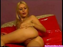 Blond Girl undressing from Lingerie
