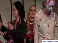 Lesbians mud wrestling