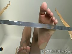 Leah Jaye Feet on Glass
