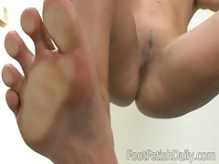 Leah Jaye Feet on Glass