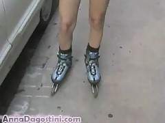 Sexy Rollerblade hot short skirt
