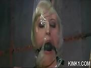 Shocked Bitch in Bondage
