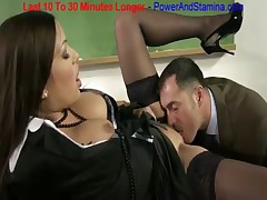Hot Brunette Fucked By Teacher