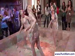 Sexy girls fighting in mud